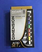NEW Mont Marte Dimension Acrylic Paint 8x18ml Intro Set Gloss Finish Art Craft