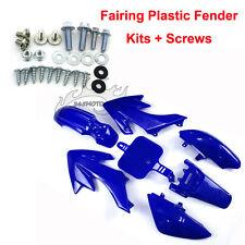Blue Fairing Plastic Fender Kit Screws For Honda CRF XR XR50 CRF50 Dirt Pit Bike