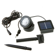 Solar Power 6 LED White Spotlight Lamp Waterproof Pool Pond Garden Path Lighting