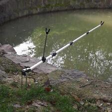 137CM Fishing Pole Hand Rod Holder Stand Bracket Telescoping Fishing Tool O6B5