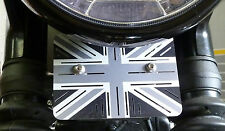 TRIUMPH BONNEVILLE t120 WATERCOOLED REGOLATORE copertura regolatore Union Jack alluminio.