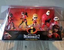 New Jakks DISNEY PIXAR INCREDIBLES 2 Family Figurine Pack Jack Jack Dash Violet
