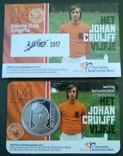Coincard €5 Johan Cruijff eerste dag uitgifte 2017 onderdeel coincard catalogus