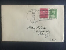 1937 US Navy Post Office China Cover to USA USS Isabel Asiatic Fleet
