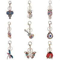 FJ- CN_ Crystal Rhinestone Handbag Charm Pendant Keychain Bag Keyring Key Chain