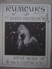 "Fleetwood Mac ""Rumours"" Fan Club Magazine May / June 1988 28 Pages Mint"