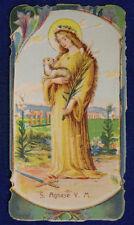 SANTINO HOLY CARD SANTA AGNESE VERGINE E MARTIRE #SA209