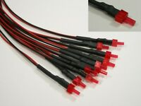 s598-5 piezas LED 2mm Rojo con cable para 12-19v CABLEADO Listo Tower LED