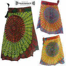 Wickelrock wrap on Jupe Skirt Goa Hippie Ethno Boho Indien Inde Nepal psy Rock