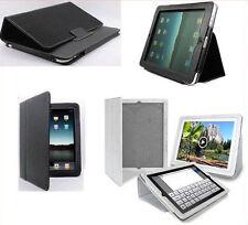 CUSTODIA PER APPLE iPad 2 COVER STAND PELLE + PELLICOLA