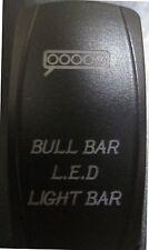 BAD BOY BUGGY JAGGEDX DUAL Back Lit BLUE BULL BAR Rocker Switch ON OFF #ACBBLB