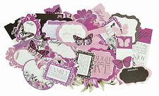 Violet Crush Collection Scrapbooking 50 piece Die Cuts Kaisercraft NEW