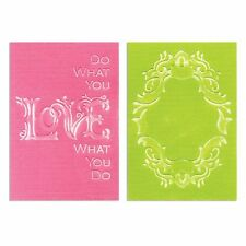 Sizzix frame & love embossing folder set 658484