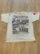 1992 LA Riots Rodney King  Mike Givan Tee THE RADICAL TIMES t-shirt Malcolm X