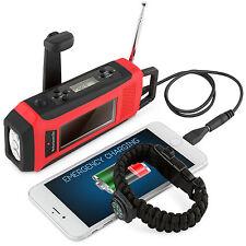 NEW Emergency Survival Solar Crank Self Powered AM/FM/WBNOAA Radio Phone Charger