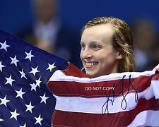 "Katie Ledecky legendary Rio Olympic 2016 Swimmer Reprint Signed 11x14"" Poster #3"