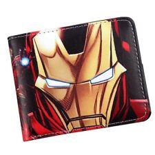 Iron Man Avengers Comic Bifold Money Card Wallet Formal for Men Accessories