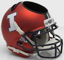 ILLINOIS FIGHTING ILLINI NCAA Schutt Mini Football Helmet DESK CADDY