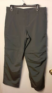 Womens Zip Off Convertible Pants Gray Gander Mountain Size 10R Hiking Outdoor