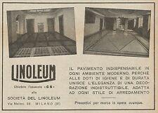 Z0741 LINOLEUM il pavimento indispensabile - Pubblicità del 1925 - Advertising