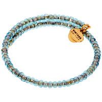 Alex And Ani Seafoam Blue Wrap Rafaelian Gold Bangle Bracelet V18WC01RG
