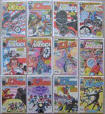 TEAM AMERICA #1-12 MARVEL COMICS BRONZE 1982 VF TO NM COMPLETE SET HIGH GRADE