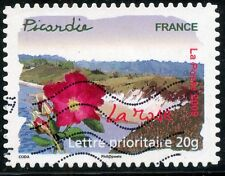 TIMBRE FRANCE AUTOADHESIF OBLITERE N° 301 / FLORE DES REGIONS / LA ROSE