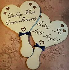 Wedding signs page boy flower girl.hand made engraved