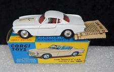 SCARCE Vintage Corgi toys 258 Volvo P 1800 The Saints EXC NMIB boxed