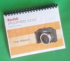 Laser Printed Kodak PixPro Az252 Instruction 96 Page Owners Manual Guide