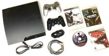 SONY PLAYSTATION 3 PS3 SLIM 320 GB Console Bundle : Controllers - 4 Games