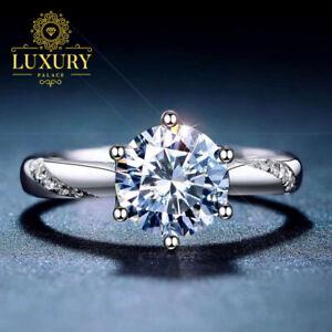 Moissanite D/VVS1 1Ct Oval Cut Diamond Platinum Plated Women Engagement Ring