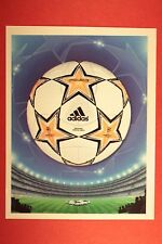 PANINI CHAMPIONS LEAGUE 2007/08 N. 3 THE BALL WITH BLACK BACK MINT!!