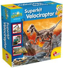 Lisciani - Super Kit Velociraptor 56422 dinosauro scavare ossa archeologia sasso