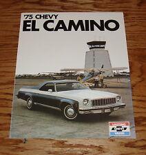1975 Chevrolet El Camino Foldout Sales Brochure 75 Chevy