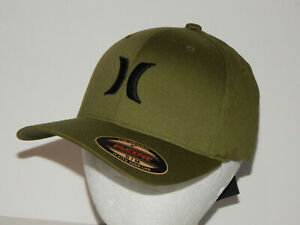Hurley OAO Icon Solid Hat / Cap Flexfit Size S/M One and Only Cargo Green/Black