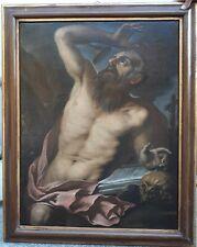 antico dipinto SAN GIROLAMO epoca fine 500 inizio 600