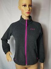 Columbia Sportswear Company Youth Medium Girls Gray Pink Fleece Jacket Full Zip