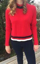 Cop.Copine Akujo Red/Black Size Med Knit Sweater