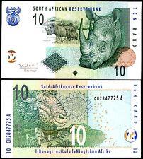 SOUTH AFRICA 10 RAND 2005 P 128 a RHINO UNC