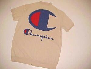 Class Fashion Beige Champion Adult Unisex Full Zipper Polyamide Spandex Shirt 2X