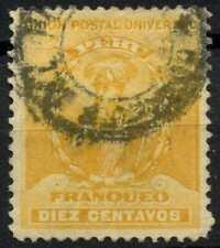 Peru 1896-1900 SG#342, 10c Yellow, Pizarro Used #E1275