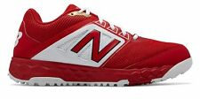 New Balance Low-Cut 3000v4 Turf Baseball Mens Shoes Red with White