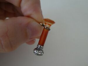 Antique Victorian Silver Scottish Agate Mini Wax Seal Pocket Watch Fob