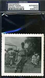 Harvey Kuenn Psa/dna Cert Original Photo Signed Authentic Autograph