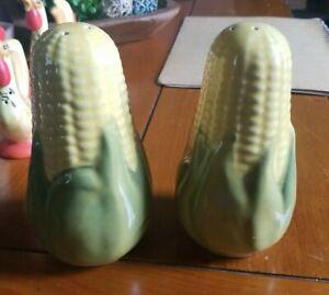 Vintage Corn Cob Salt & Pepper Shakers