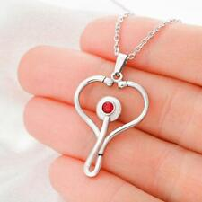 Proud Nurse Gifts Nursing Stethoscope Necklace For Women Wife Mom Aunt Daughter