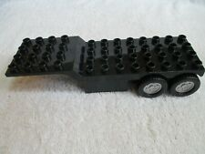 Lego Duplo Semi Truck Black Flatbed Trailor Only 4x4 & 4x8 sections