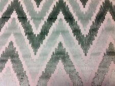 Manuel Canovas Flamestitch Chevron Velvet Fabric- Duras Menthe 5.90 yd (4853-02)