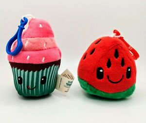 Oh So Yummy Backpack Buddies Scented Plush Toy Watermelon Cupcake Clips